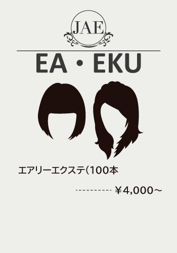エアリーエクステ料金:エアリーエクステ(100本)¥4,000~